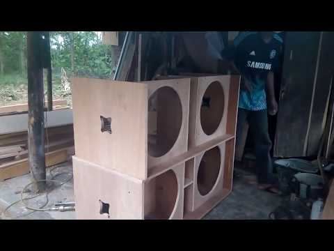 pembuatan box speaker 18 inch - YouTube