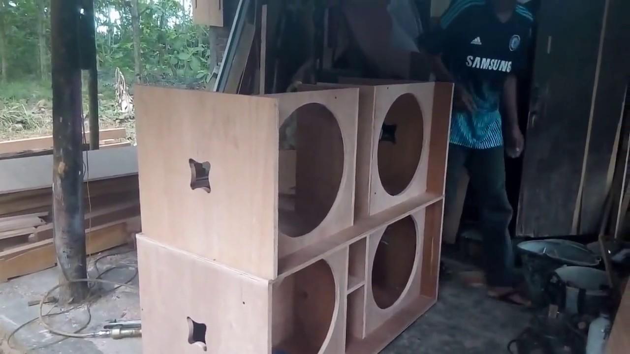 pembuatan box speaker 18 inch