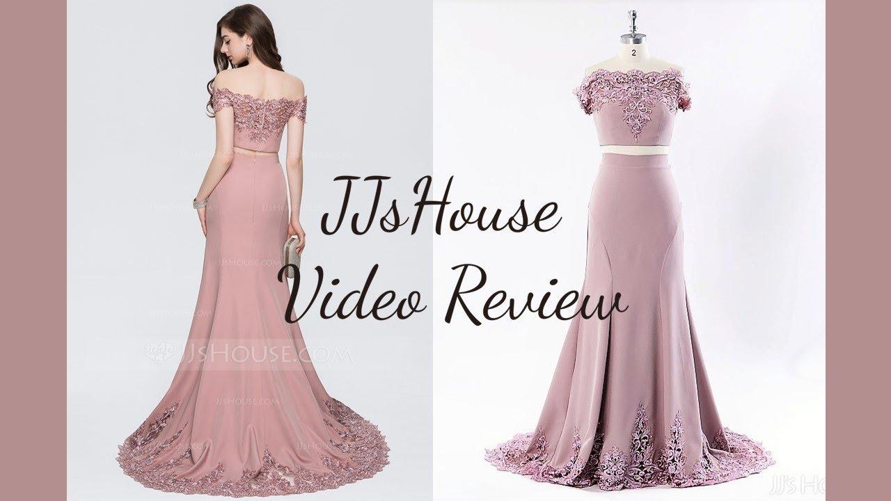 d404f56a Prom Dress 147831丨Mermaid Off-the-Shoulder Sweep Train Stretch Crepe Dress  - JJ's House