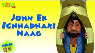Motu Patlu Cartoons In Hindi |  Animated cartoon | John ek ichhadhari naag | Wow Kidz