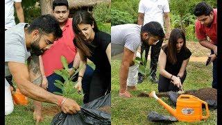 Anushka Sharma And Virat Kohli Plants Sapling In Sri Lanka
