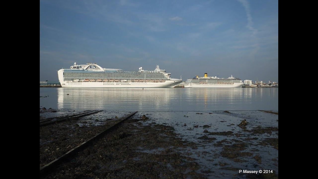 Ruby Princess Costa Mediterranea Qm2 Southampton 8 Sept