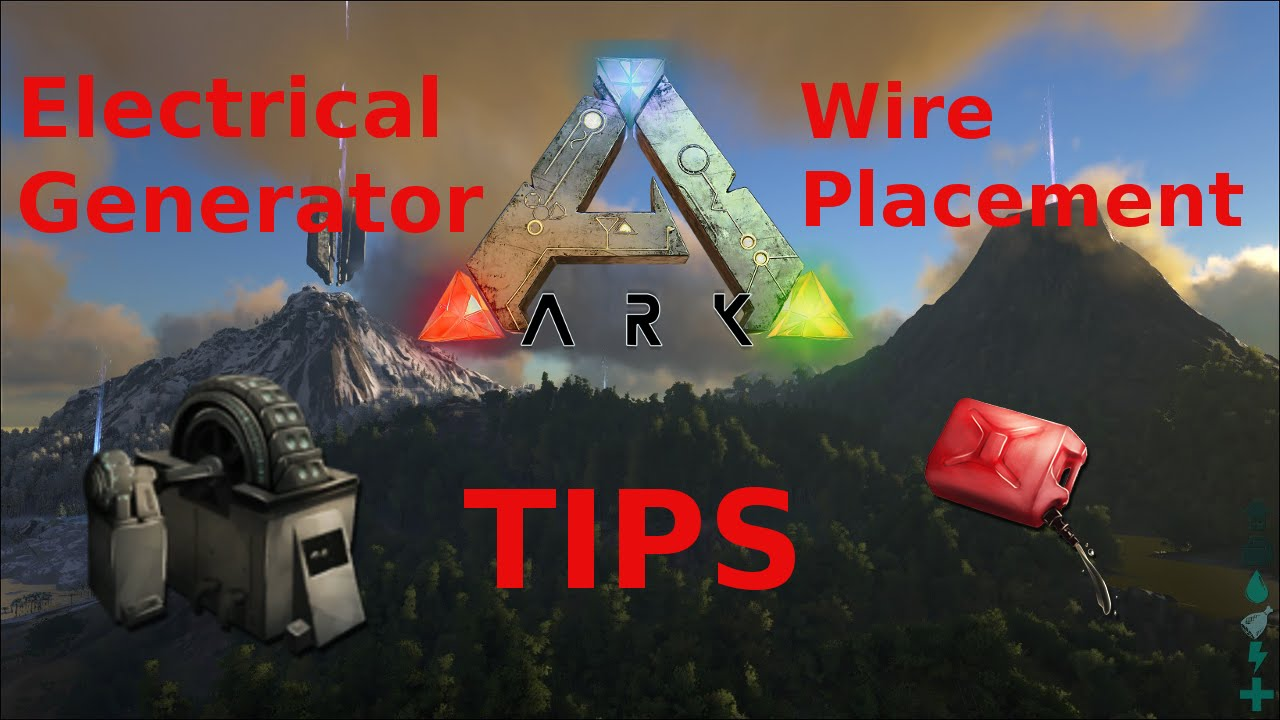 Amazing Ark Survival Evolved Electrical Generator And Wire Placement Tips