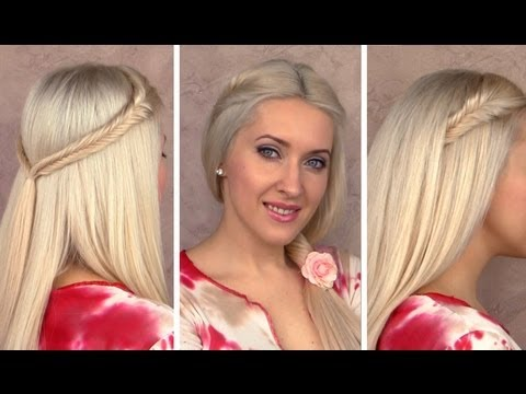 Cute Easy Hairstyles For Long Hair cute easy hairstyles for long curly hair 2017 Easy Cute Back To School Hairstyles For Long Hair Fishtail Braids Tutorial For Party