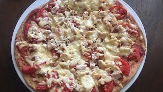 Диетическая пицца. ПП рецепт. Протеиновая пицца.