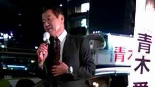 2014年衆院選の青木愛・東京12区(北区、足立区西部)候補(生活の党)...