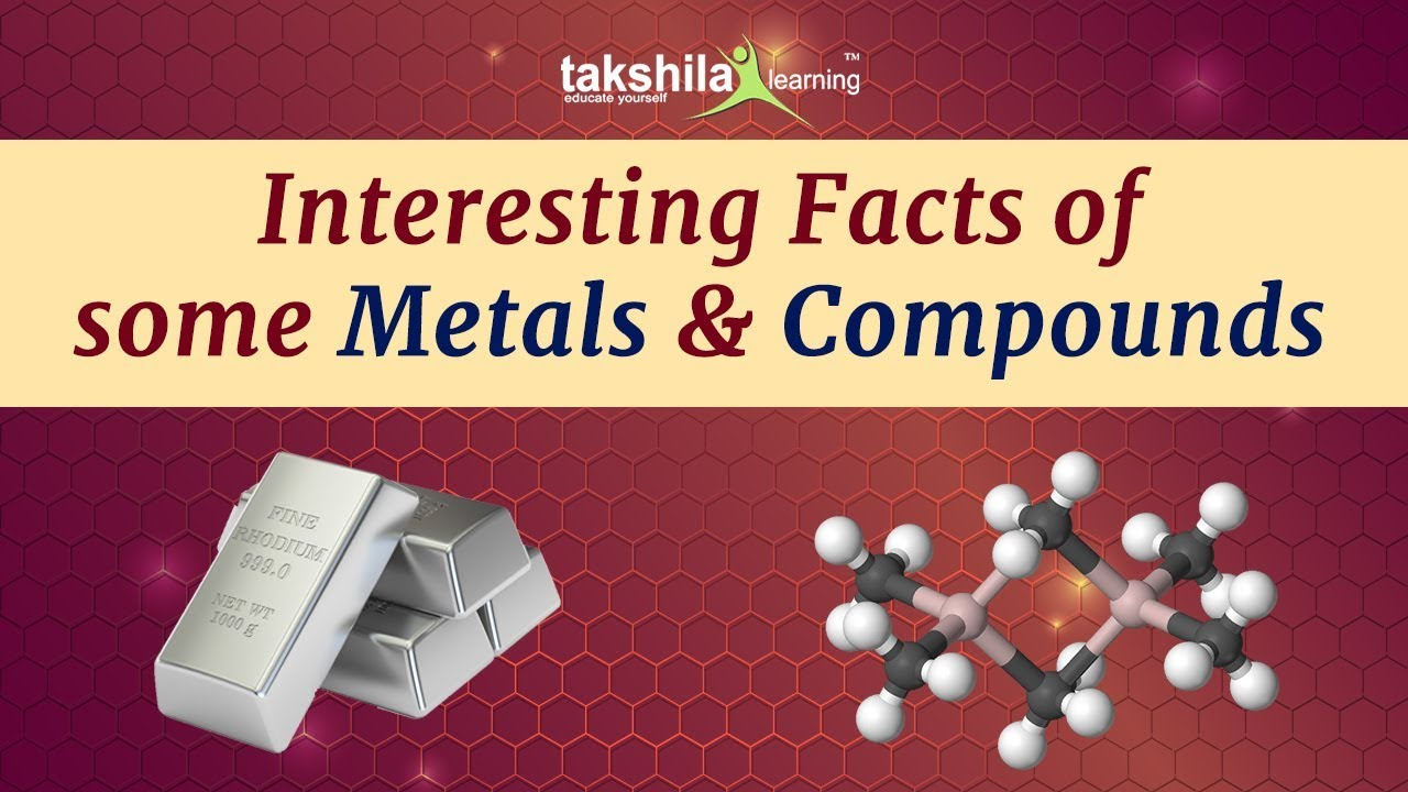(Gk) Interesting Facts of Some Metals and Compounds for SSC , Raillways ,  UPSC Exams