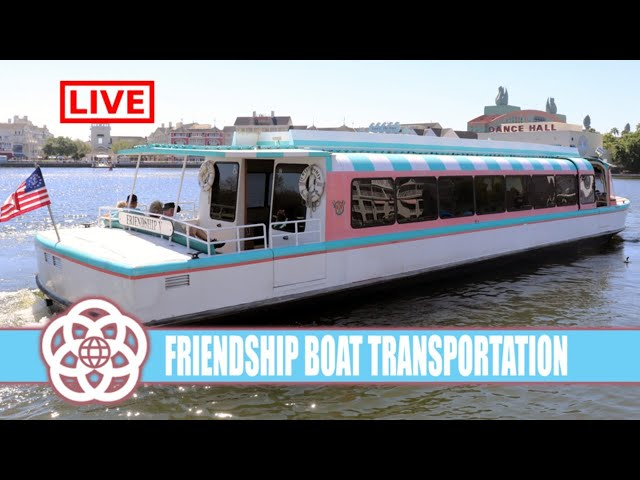 LIVE: Walt Disney World Friendship Boat Transportation - Epcot and Epcot Resorts Live Stream