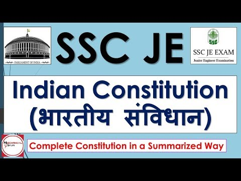 Indian Constitution | SSC JE 2017-18 | Complete Analysis | Indian Polity Questions Explanation Hindi
