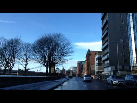 Driving in Glasgow - Mount Florida to Partick, non-motorway