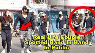Rahul Vaidya & Disha Parmar Spotted On Mumbai Street 😍😍😍