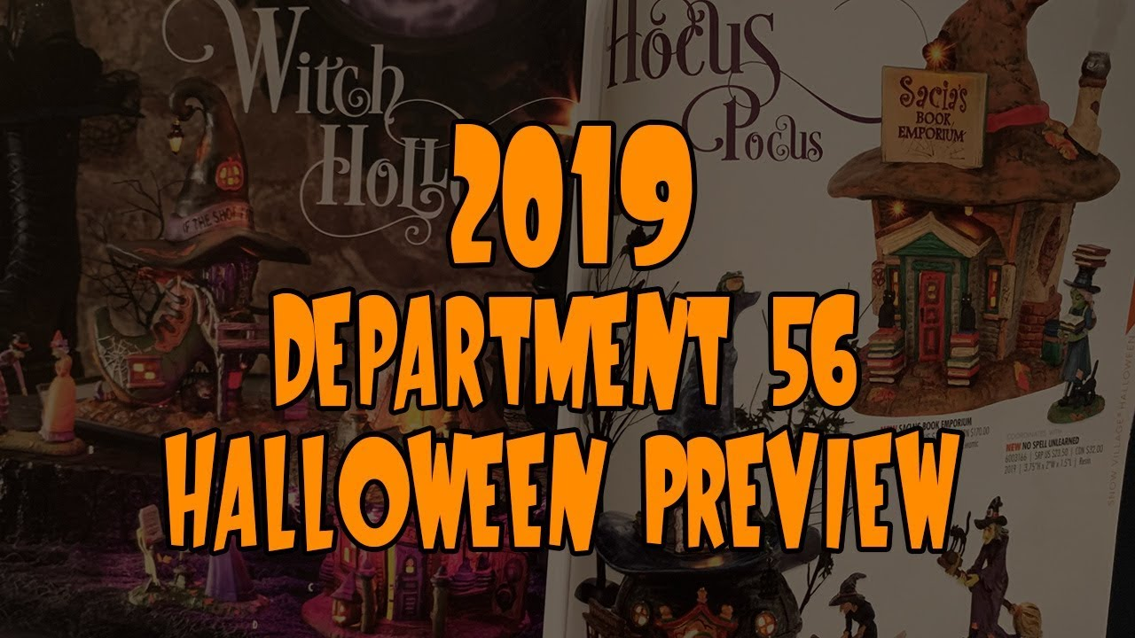2019 Department 56 Halloween Preview - YouTube