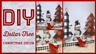Dollar Tree DIY Farmhouse Christmas Decor Ideas 2019 - Black & White - Red & Black Buffalo Check