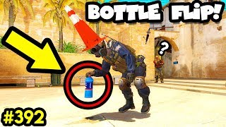 CSGO BOTTLE FLIP CHALLENGE! - CS:GO BEST ODDSHOTS #392
