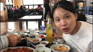 Cuộc sống Hàn Quốc:|Tập 101| Đi tập thể dục dài lên rẫy và ăn bữa cơm 21 món phụ,2 món chính với ba.