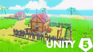 Unity 5 speed level design - Toon islands and houses