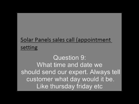 Solar sales call (Appointment setting)