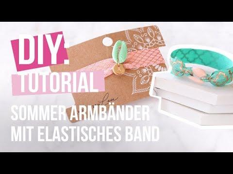 Schmuck machen: Sommer Armbänder mit Kauri Muscheln und Elastischem Band ♡ DIY