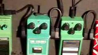 Guitar effects pedals - ts9 - ts808 - ts10 by ibanez