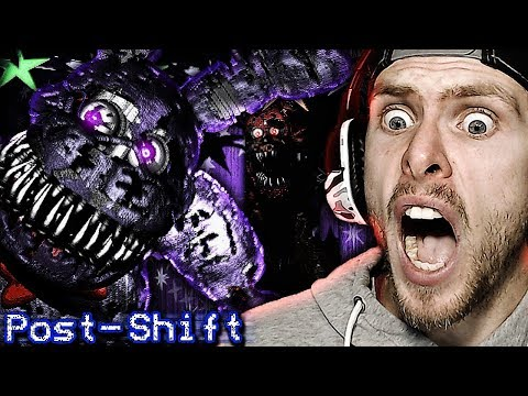 NEW NIGHTMARE ANIMATRONICS COME TO PLAY! | FNAF Post Shift Night 2 Gameplay! FNAF Fan Game