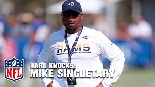 Mike Singletary Drills Rams Linebackers | Hard Knocks: LA Rams (2016)