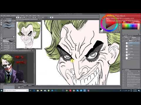How I Paint My Inked Sketches With Clip Studio