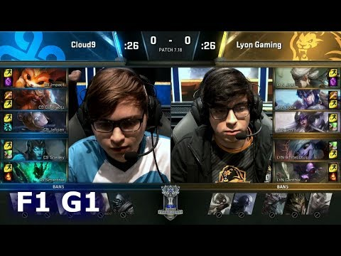 Cloud 9 vs Lyon Gaming | Game 1 Finals of Play-in Stage S7 LoL Worlds 2017 | C9 vs LYN G1