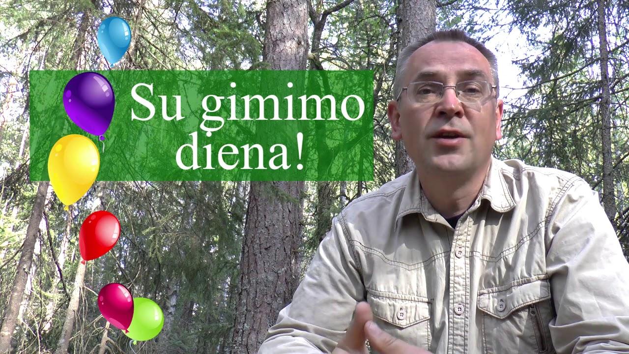 Lithuanian Lesson 107 Birthday Gimtadienis Youtube
