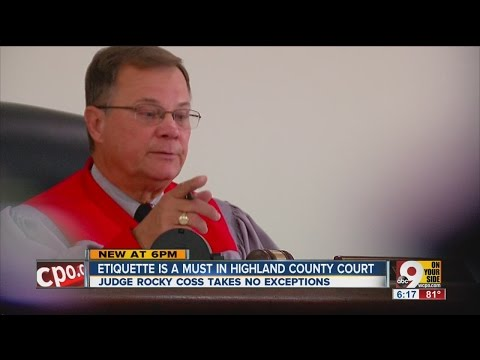 Highland County judge holds himself in contempt of court