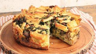 Sausage & Broccoli Rabe Pasta Pie