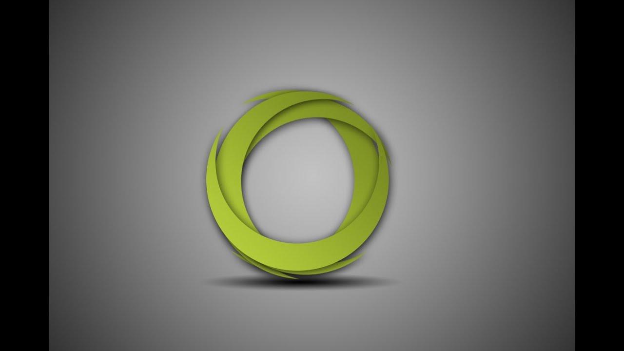 Photoshop tutorial logo design abstract circle youtube baditri Gallery