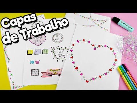 IDEIAS DE CAPAS DE TRABALHO E DATAS