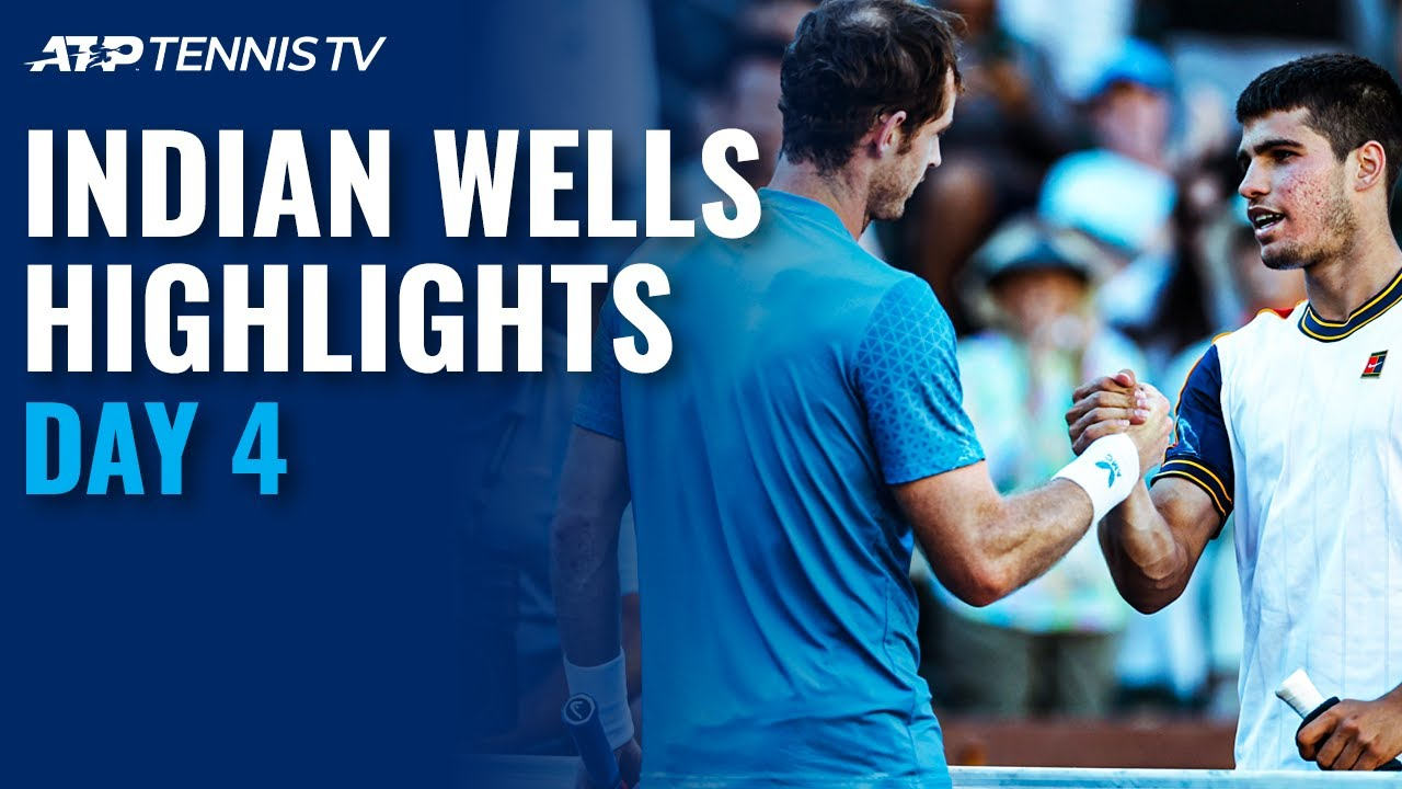 Murray & Alcaraz Play Epic; Tsitsipas, Zverev Open Campaigns | Indian Wells 2021 Day 4 Highlights