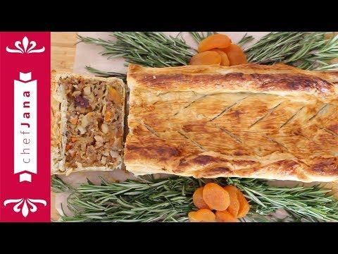 Easy veggie Wellington ⎮Mushroom and nuts puff pastry roast ⎮Vegan