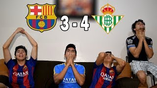 Barcelona Vs Betis 3-4 |LA LIGA 2018/2019| (REACCION AL PARTIDO)