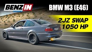 1050 hp Supra 2JZ swapped BMW E46 M3 * English subtitled