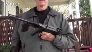 model 1921 colt vs  model 1928a1 thompson submachine gun... a side by side comparison
