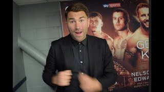 ANIMATED EDDIE HEARN REACTS TO LEWIS RITSON STUNNING TKO OF HYLAND JR / KELLY COMMONWEALTH TITLE WIN
