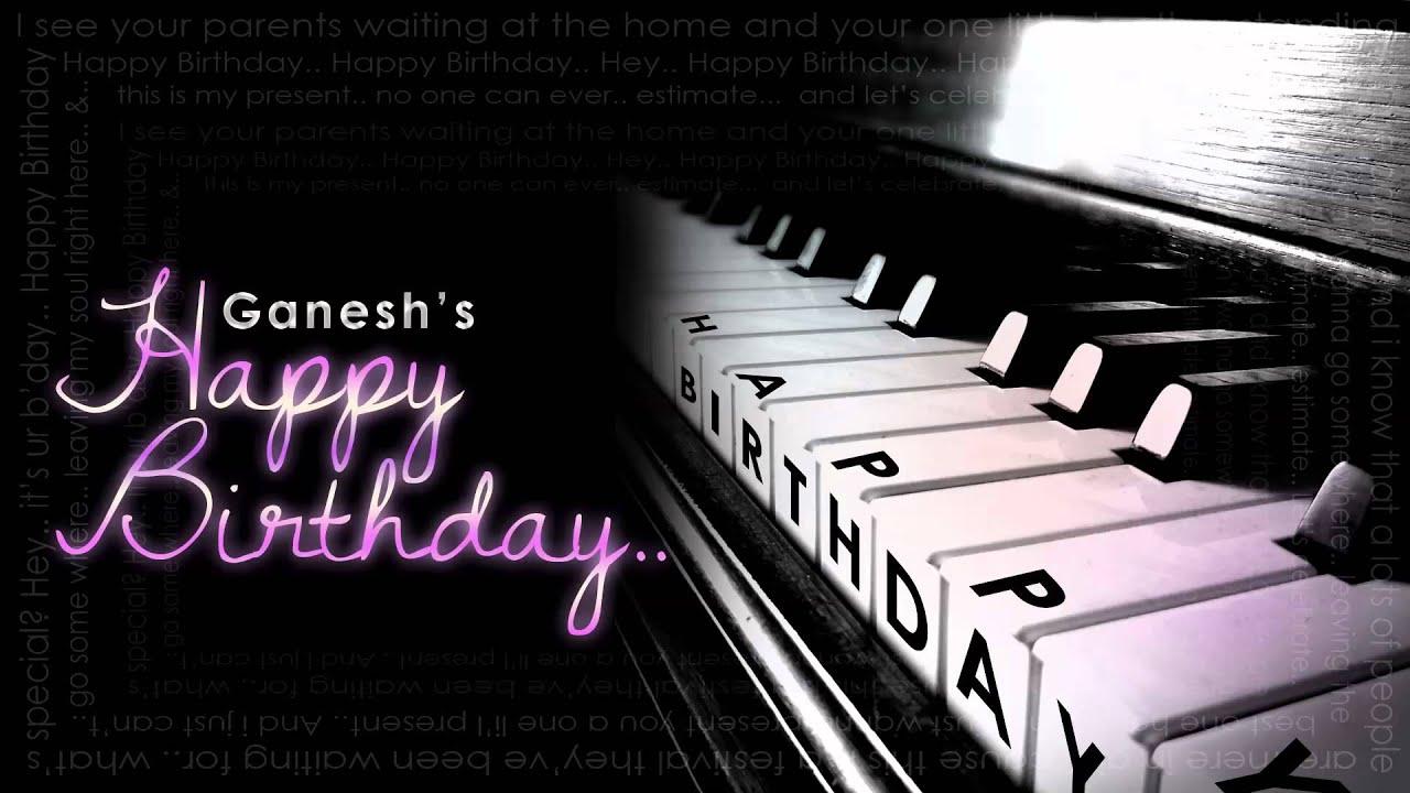 Results including keyword piano happy birthday