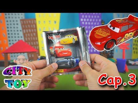 Cars 3 🚗 Album de Cromos 🎬 y Revista con Juguetes de la película Cap.3