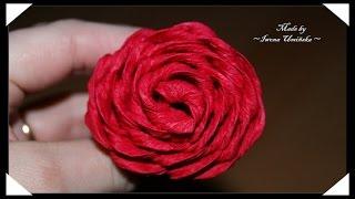 Бумажные цветы из гофрированной бумаги(Хотите сделать цветы их гофрированной бумаги? Предлагаю сделать красивые розы или даже букет роз! Как сдела..., 2014-08-03T13:31:05.000Z)