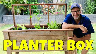 Raised Planter Box for Bad Backs - Raised Mobile Planter Box