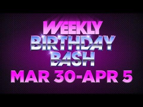 Celebrity Actor Birthdays - March 30-April 5, 2014 HD