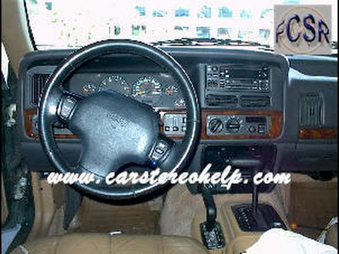 Jeep Grand Cherokee Stereo Removal And Installation Youtube