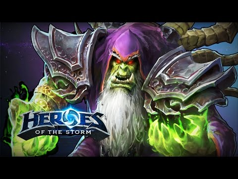 ♥ Heroes of the Storm (Gameplay) - Gul'dan, Self Sustain (HoTs Quick Match)