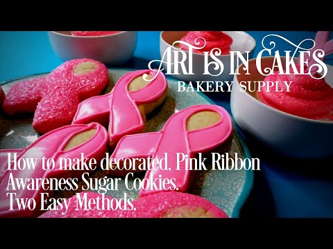 How to Make Decorated Sugar Cookies Pink Ribbon Awareness in Two Easy Methods