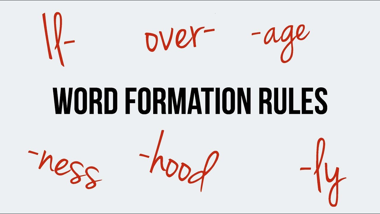 English Word Formation Prefixes Il Over Suffixes Age Ness Hood - Word formation