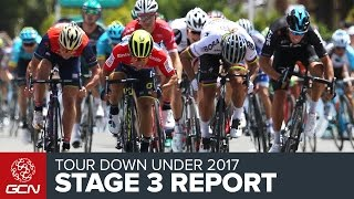 Tour Down Under Stage 3 Race Report