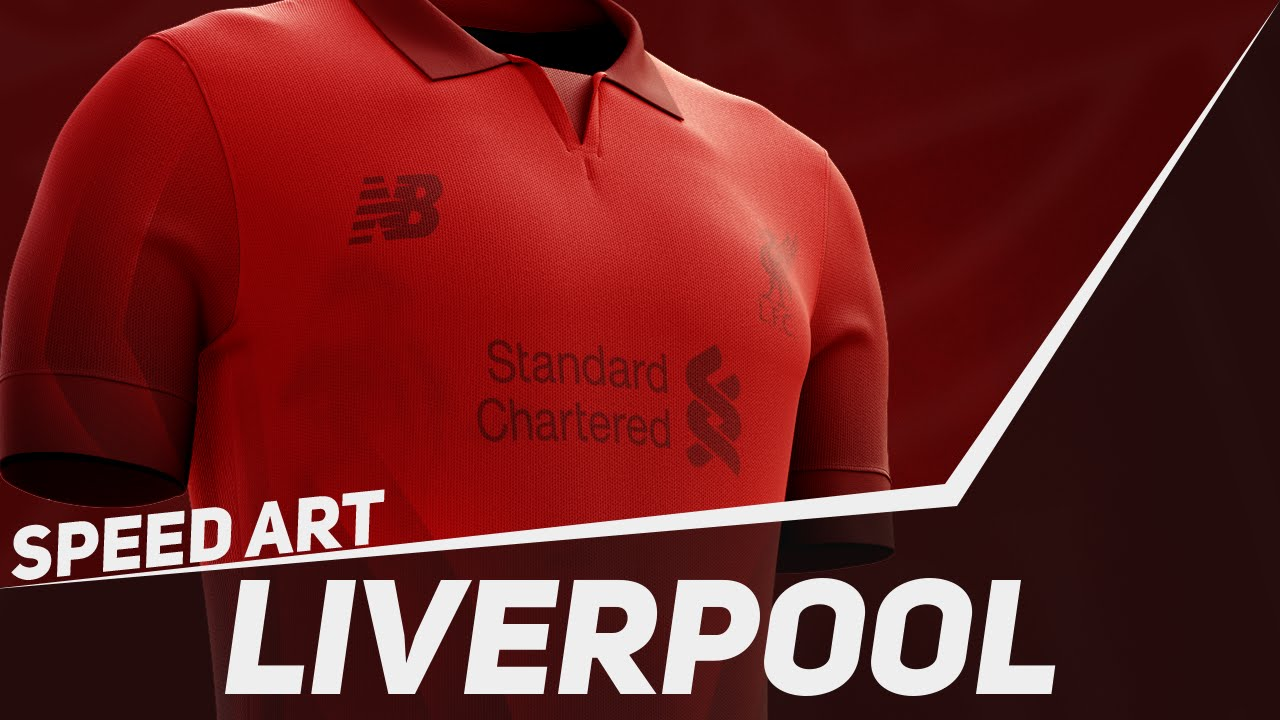 innovative design aa779 e5755 Photoshop Speed Art #40: Liverpool FC 2016 Kit Concept | BazDZN
