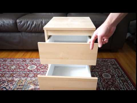 ikea kullen 2 drawer chest close up youtube. Black Bedroom Furniture Sets. Home Design Ideas